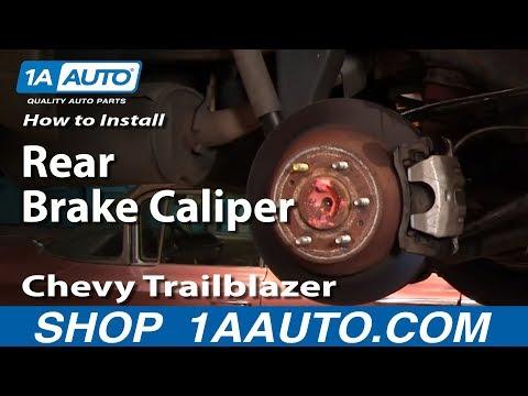 How To Install Replace Leaking Rear Brake Caliper Chevy Trailblazer GMC Envoy 1AAuto.com