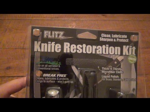 Flitz Brand Knife Restoration Kit + Gus Snoring Yet Again!