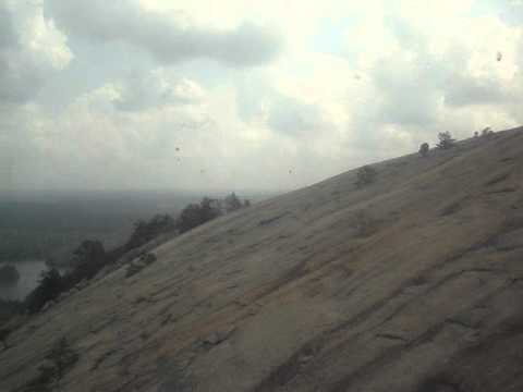 Stone Mountain cable car up.