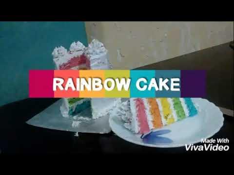 Making Of Rainbow Cake🎂🌈