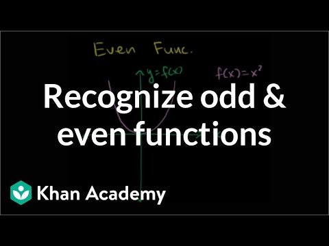 Recognizing odd and even functions | Functions and their graphs | Algebra II | Khan Academy
