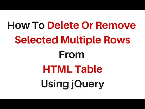 delete multiple selected rows in html table using jquery 3.3.1