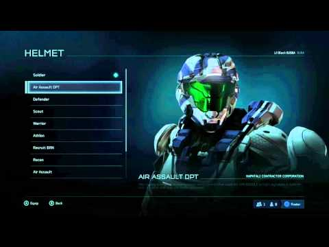 Halo 5: Guardians Beta - Soldier Armor with Verdant Visor