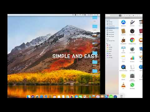 HOW TO ADD AN APP OR A FOLDER TO THE FINDER SIDEBAR IN HIGH SIERRA