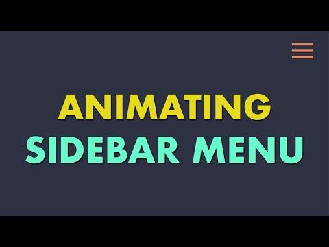 Animating Sidebar navigation with Html 5 css 3 and Javascript
