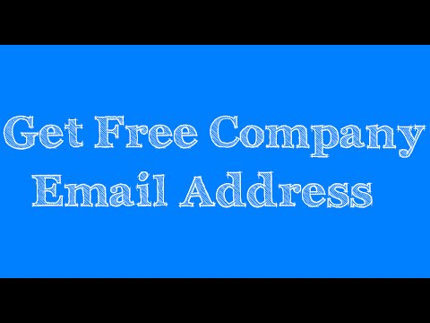 Get Free Company Email Address