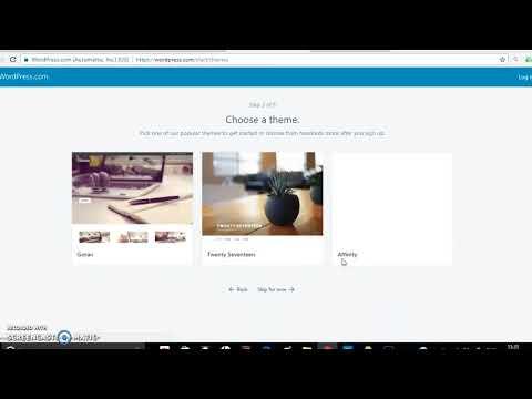 Creating a Website by using wordpress in Marathi Language