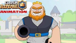 Clash Royale Animation #13: Cannon Cart VS Royale Giant (Parody)