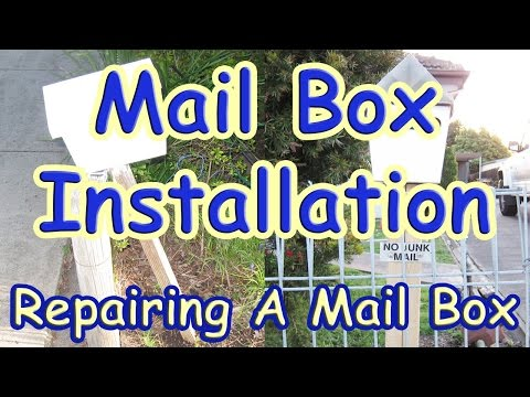 How to Install a Mailbox or Repair a Letterbox Post (Mailbox Installation with DaznDi)