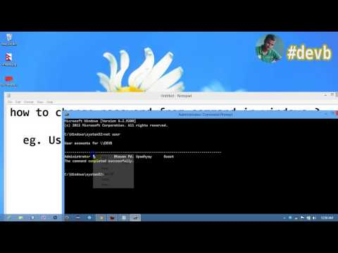 How to change password from command in windows if username contain space