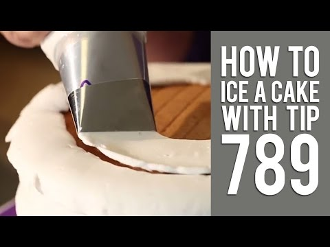 How to Ice a Cake the Easy Way Using Tip No. 789