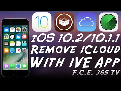 How To Remove iCloud Account From iPhone With iVe App (iOS 10.x)