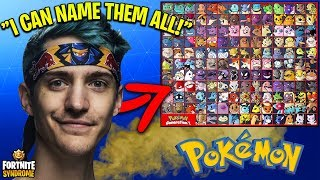 NINJA TRIES TO NAME ALL POKÉMONS FROM GEN 1! - Fortnite Moments #126
