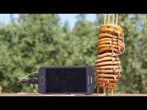 How to Make a Free Energy Mobile Phone Charger Using Potato
