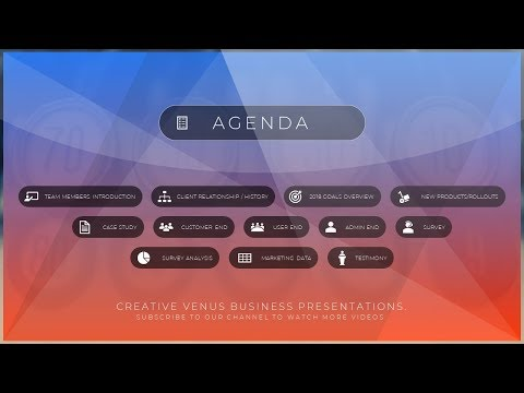 How To Create a Beautiful Agenda Slide in Microsoft Office PowerPoint PPT