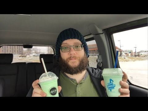 Comparing McDonald's Shamrock Shake and Culver's Mint Shake