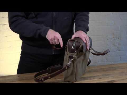 06cbb2dea6ef Everett Pilot Briefcase Leather Bag - Two Pocket Leather - Canvas Or ...