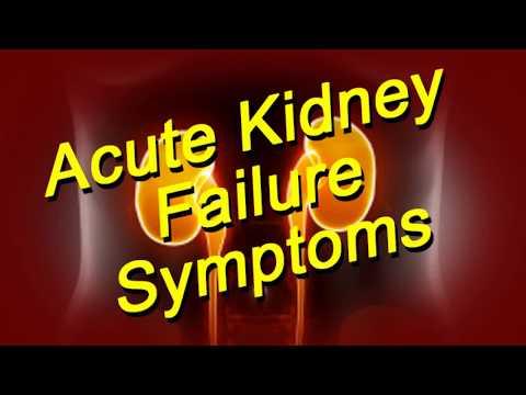 Acute Kidney Failure Quick Symptoms List
