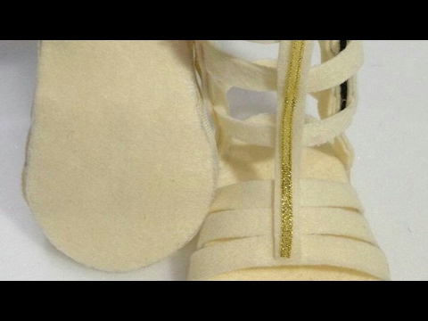 How to make baby gladiator sandals