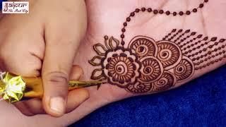 Very Easy & Stylish Mehndi Design For Hands | Best Girlish Mehndi Design #138 @ jaipurthepinkcity