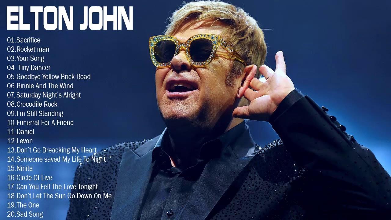 Elton John Best Songs - Elton John Greatest Hits full album - Best Rock Ballads 80's, 90's