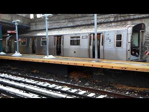 BMT Brighton Line: Coney Island bound R160/B (Q) Train #9063 @ Newkirk Plaza