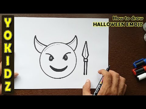 How to draw HALLOWEEN EMOJIS