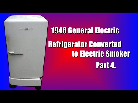 How to   Homemade Vintage Fridge Smoker Build. On a Budget Part 4
