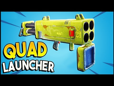 QUAD LAUNCHER Review! - Fortnite 4.2 Update (Quad Launcher Gameplay)