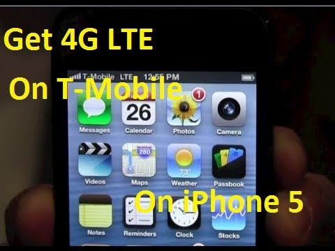 How To (Get/Enable) 4G LTE On iPhone 5 For T-Mobile (1st Video On Web)