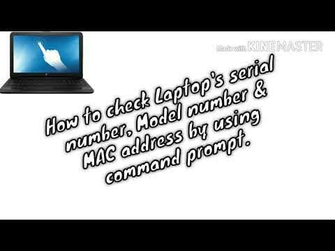 How to check Laptop's serial number, Model number & MAC address by using command prompt.