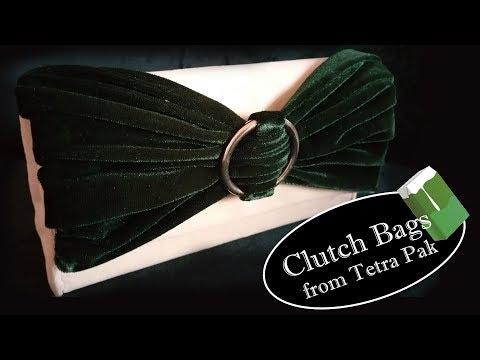 DIY PURSE BAG CLUTCH NO SEW TUTORIAL / Fashion Bag / from tetra pak