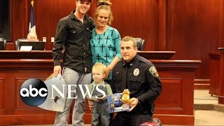 Officer Saves Boy Using CPR [CAUGHT ON TAPE]