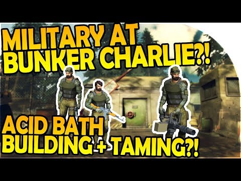 MILITARY AT BUNKER CHARLIE? - TAMING! - ACID BATH BUILDING - Last Day On Earth Survival 1.5.7 Update
