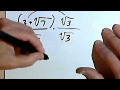 Rationalizing the Denominator - Part 1