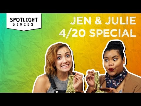 Pot-Infused Pesto Pasta + The Hilarious Aftermath | Jen & Julie