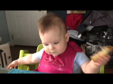 Baby led weaning - boiled pear with cinnamon