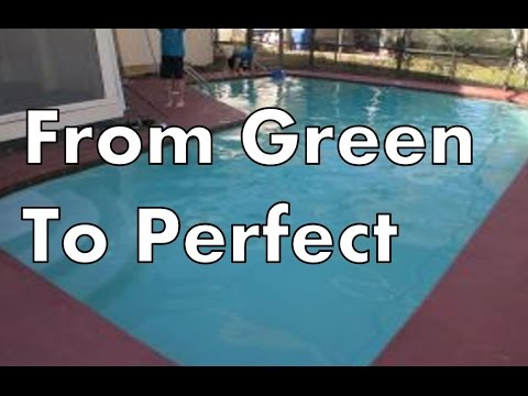 How To Clear Up Green Swimming Pool Water (End)-Video