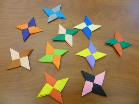 How To Make a Paper Ninja Star (Shuriken) - Origami Easy