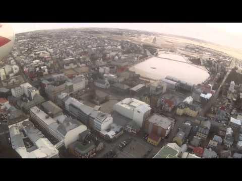 Landing at Reykjavik Airport