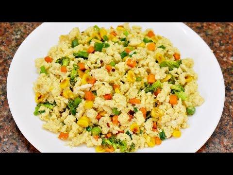 Quick Breakfast: Vegetable Scrambled Egg