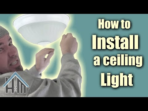 How to install ceiling light, flush mount light fixture. Easy! Home Mender.