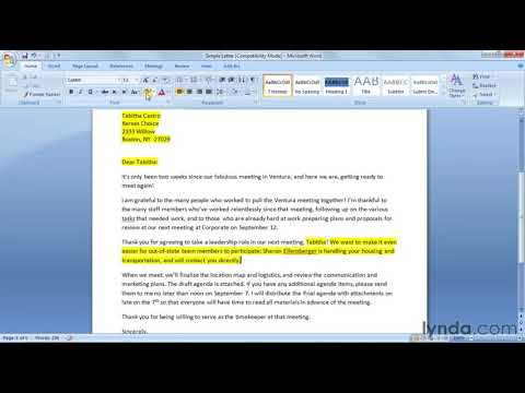 How to prepare a Mail Merge letter | lynda.com tutorial