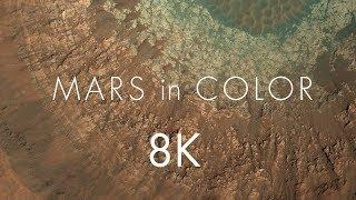 Mars in Color - Crater in Tyrrhena Terra [ 8k ]