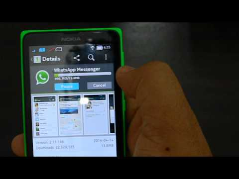 how to install whatsapp on the Nokia X Android phone