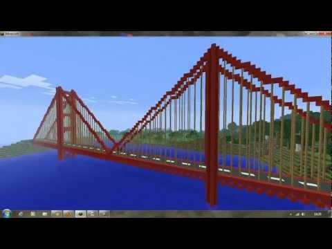Minecraft Creations: Golden Gate Bridge