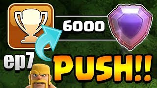 TITAN LEAGUE!  TH11 Trophy Push to Top 200 ep7   Clash of Clans