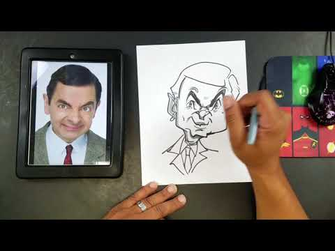 How To Draw a Caricature of Mr.Bean