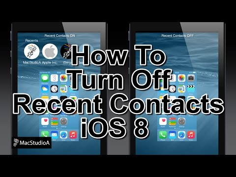 Turn Off Recent Contacts iOS 8
