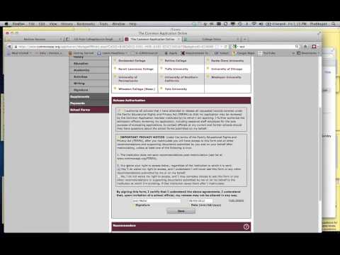 Common App School Forms Part 1